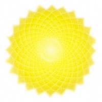 Le chakra de la couronnecorrespond au 2e rayon, de couleur jaune et or, situé au sommet de la tête, relié au cortex cérébral et au système nerveux, destiné à exprimer l'illumination, la sagesse et la conscience cosmique.