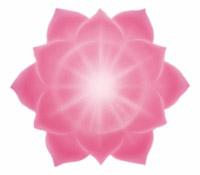 Le chakra du cœur correspond au 3e rayon, de couleur rose, situé au centre de la poitrine, relié au cœur physique et au thymus, destiné à exprimer l'amour, la compassion et la beauté.